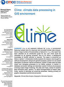Clime: climate data processing in GIS environment